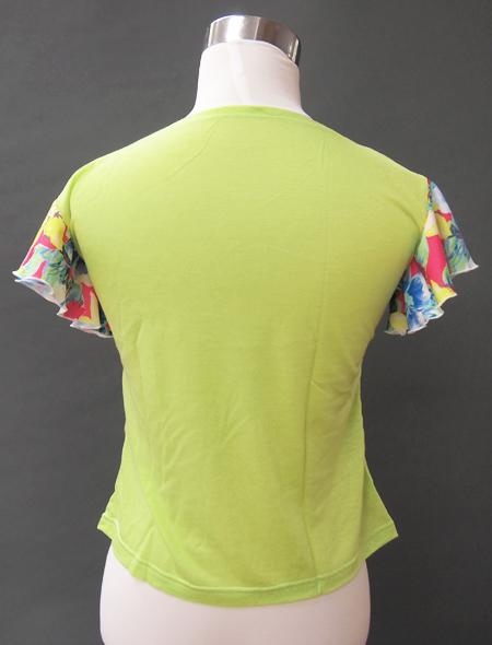 カラフルグリーントップス ミラーナベリーダンス衣装2