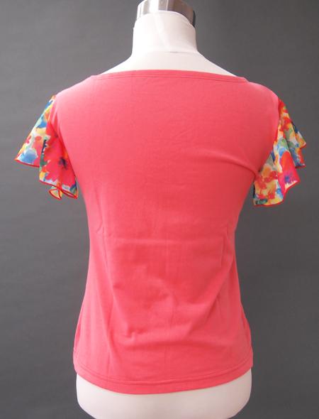 ピンク水彩トップス2 ミラーナベリーダンス衣装