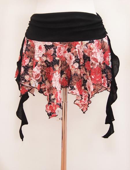 花柄レースのヒップスカーフ2 ミラーナベリーダンス衣装