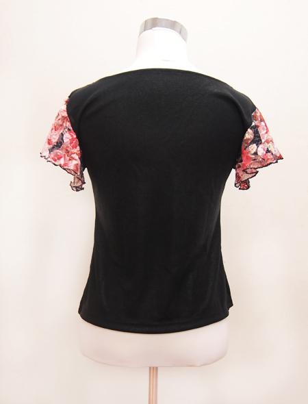 黒花レーストップス2 ミラーナベリーダンス衣装