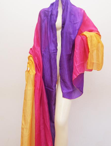 黄色紫ベール ミラーナベリーダンス衣装