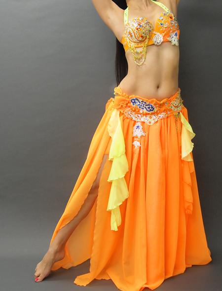 アラビアンなオレンジベリーダンス衣装1 ミラーナ