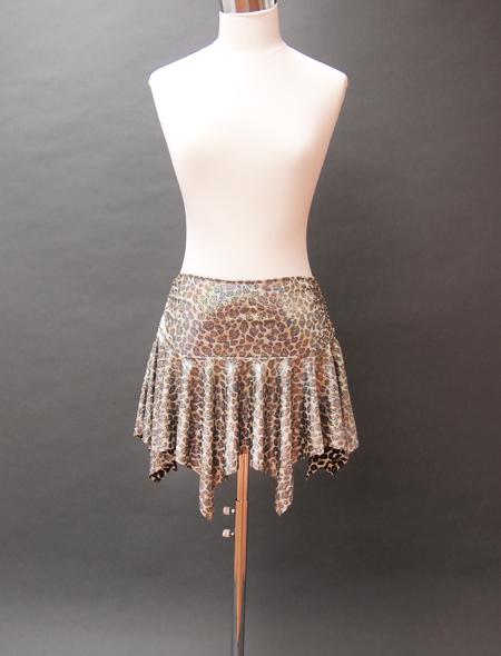 ヒョウ柄スカート ミラーナベリーダンス衣装