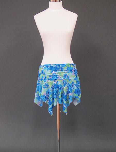ブルー水彩ヒップスカーフ1 ミラーナ