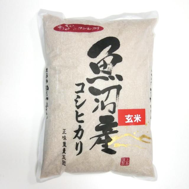 魚沼産こしひかり 5キロ 玄米