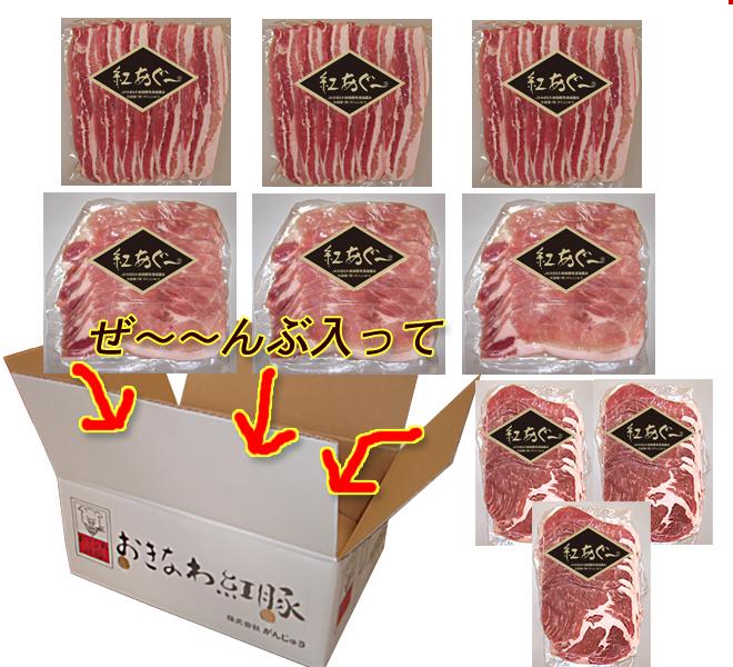 【送料無料】紅あぐー焼肉お得セット