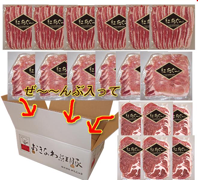 【送料無料】紅あぐー 焼肉お得セット2