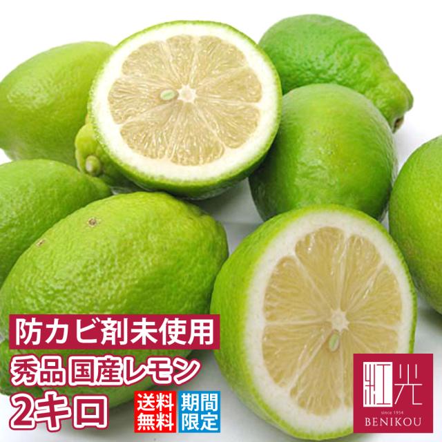 国産レモン 【送料無料】 静岡産・国産レモン 秀品2.0kg   「北海道・沖縄は+1100円」