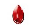 しずく型クリスタル・赤の光(本体のみ)