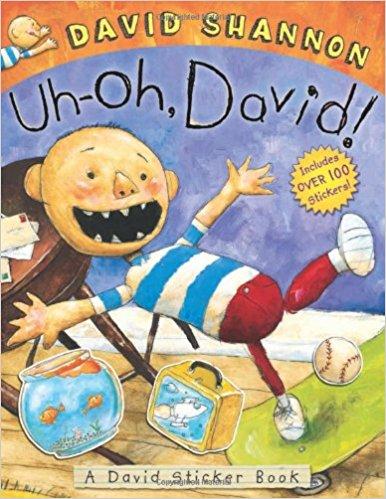 UH-OH,DAVID! A DAVID STICKER BOOK