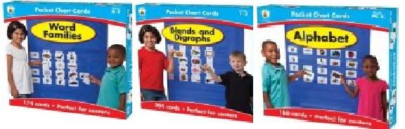 POCKET CHART CARDS:ALPHABET,WORD FAMILIES,BLENDS AND DIGRAPHS(ポケットチャートで使えるフォニックスカード3種類)