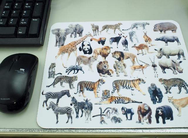野生動物のマウスパット【メール便で発送】