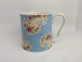 【Mug】Antique Paisley Blue