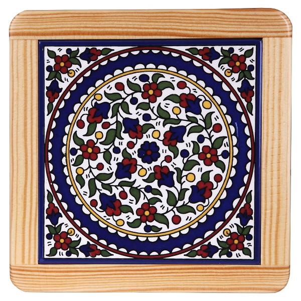 鍋敷き/アルメニアンセラミック 花