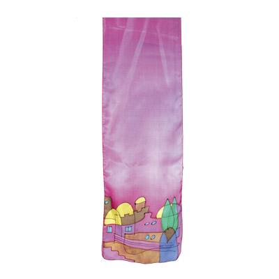シルクスカーフ(長) 紫