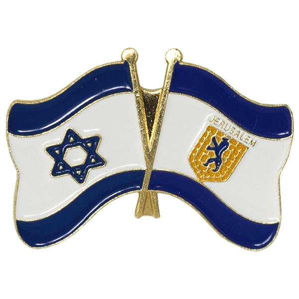 ピンバッヂ(国旗イスラエル/エルサレム)