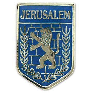 ピンバッチ(エルサレム市章)