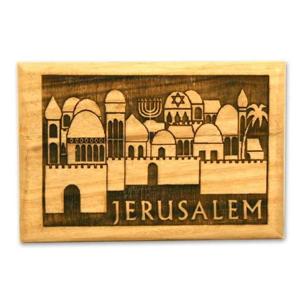 オリーブの木のマグネット(エルサレム)