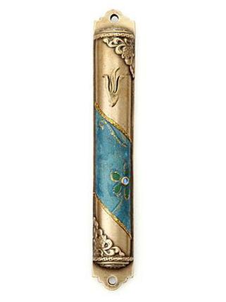 メズーザ(真鍮) トロピカルブルー