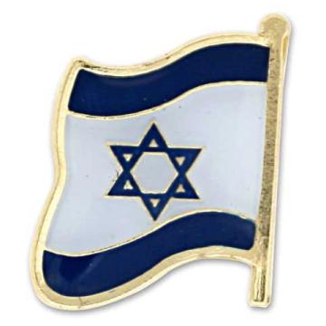 ピンバッチ(イスラエル国旗型)