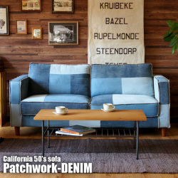 CALIFORNIA50's SOFA Patchwork-DENIM BIMAKES