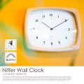 壁掛け時計 ニフェル Niffer CL-3355  電波ステップムーブメント