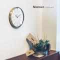 壁掛け時計マノンウォールクロック 時計 かけ時計