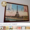 アートフレーム Cavallini Map Series Art Frame JIG 全8タイプ