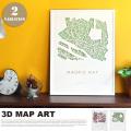 デザイナーズアート 70×90×5cm スリーディマップアート シティマップ JIG 送料無料