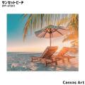 アート キャンバスアート サンセットビーチ 絵画