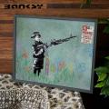 Banksy バンクシー No Parking アート 絵画 風刺画 IBA-61738