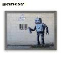 Banksy バンクシー Robot アート 絵画 風刺画 IBA-61732