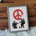 Banksy バンクシー Peace Soldiers アート 絵画 風刺画 IBA-61733