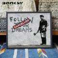 Banksy バンクシー Follow Your Dreams アート 絵画 IBA-61739
