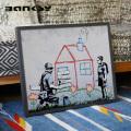 Banksy バンクシー Playhouse アート 絵画 風刺画 IBA-61740