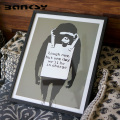 Banksy バンクシー Laugh Now アート 絵画 風刺画 IBA-61741