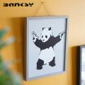 Banksy バンクシー Panda with Guns アート 絵画 風刺画 IBA-61754