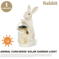 アニマルコンシェルジュソーラーガーデンライトラビット ANIMAL CONCIERGE SOLAR GARDEN LIGHT RABBIT KL-10343 テーブルスタンド