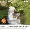 アニマルコンシェルジュソーラーガーデンライトフロッグ ANIMAL CONCIERGE SOLAR GARDEN LIGHT FROG KL-10342 テーブルスタンド