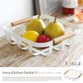 トスカ キッチンバスケット S ホワイト tosca kitchen basket S white 2975 キッチンアイテム ヤマザキ YAMAZAKI