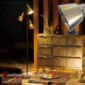 ニュートロンフロアーランプ AW-0344 カラー(ゴールド/アルミ)