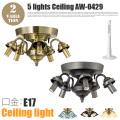 5灯シーリング本体(口金・E17) アートワークスタジオ AW-0429