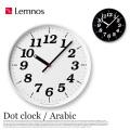 掛時計 ドットクロック アラビック Dot clock Arabic KK15-12 タカタレムノス Lemnos
