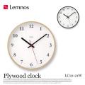 掛時計 プライウッドクロック Plywood clock LC10-21W タカタレムノス Lemnos
