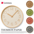 掛時計 トムソンペーパー ウォール クロック THOMSON PAPER Wall clock NY16-09 タカタレムノス Lemnos