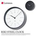 リキスチールクロック RIKI STEEL CLOCK WR17-10 レムノス 掛け時計