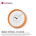 リキスチールクロック RIKI STEEL CLOCK WR17-11 レムノス 掛け時計