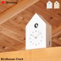掛け置き時計 バードハウス クロック ハト時計 レムノス Lemnos