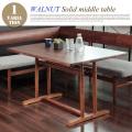 ウォールナットソリッドミドルテーブル   Solid Wood series