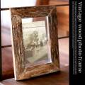 Vintage wood photo frame(ビンテージウッドフォトフレーム)